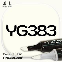 Маркер FINECOLOR Brush YG383 Желтый флюорит двухсторонний