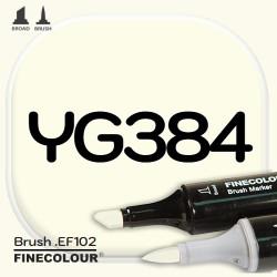 Маркер FINECOLOR Brush YG384 Бледный лимон двухсторонний
