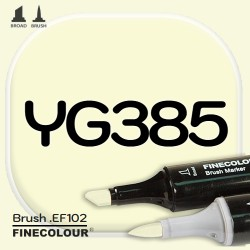 Маркер FINECOLOR Brush YG385 Желтый барий