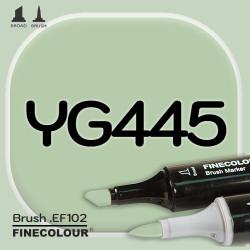 Маркер FINECOLOR Brush YG445 Ивовый двухсторонний
