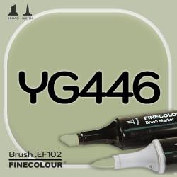 Маркер FINECOLOR Brush YG446 Сероватый оливковый