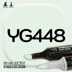 Маркер FINECOLOR Brush YG448 Бледно-кобальтовый зеленый двухсторонний