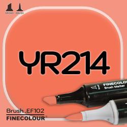 Маркер FINECOLOR Brush YR214 Красновато-оранжевый