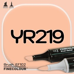 Маркер FINECOLOR Brush YR219 Песчаный коричневый