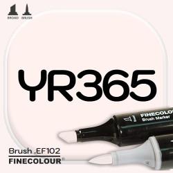 Маркер FINECOLOR Brush YR365 Розовый порошок двухсторонний