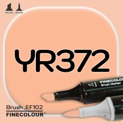 Маркер FINECOLOR Brush YR372 Румяный