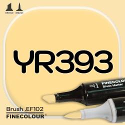 Маркер FINECOLOR Brush YR393 Золотисто-желтый двухсторонний