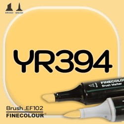 Маркер FINECOLOR Brush YR394 Золотистый