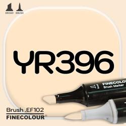 Маркер FINECOLOR Brush YR396 Желтоватая охра двухсторонний