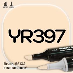 Маркер FINECOLOR Brush YR397 Медово-оранжевый двухсторонний