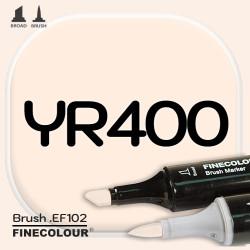 Маркер FINECOLOR Brush YR400 Локва двухсторонний