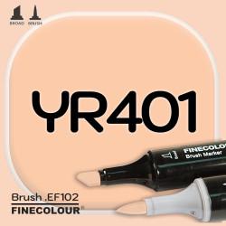 Маркер FINECOLOR Brush YR401 Желтая тыква
