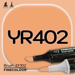 Маркер FINECOLOR Brush YR402 Темно-оранжевый двухсторонний