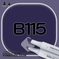 Маркер FINECOLOR Junior B115 Пигментированный фиолетовый двухсторонний