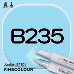 Маркер FINECOLOR Junior B235 Лазурный двухсторонний