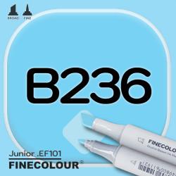Маркер FINECOLOR Junior B236 Обработанный синий двухсторонний
