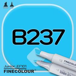 Маркер FINECOLOR Junior B237 Голубой цианин двухсторонний