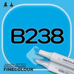 Маркер FINECOLOR Junior B238 Голубой павлин двухсторонний