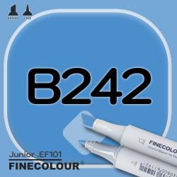 Маркер FINECOLOR Junior B242 Королевский синий двухсторонний