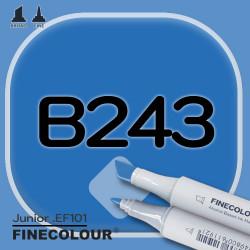 Маркер FINECOLOR Junior B243 Ультрамарин двухсторонний