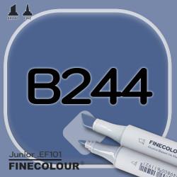 Маркер FINECOLOR Junior B244 Синяя волна двухсторонний