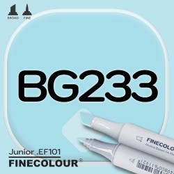 Маркер FINECOLOR Junior BG233 Бледная бирюза двухсторонний