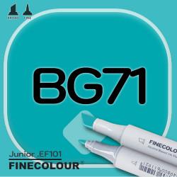 Маркер FINECOLOR Junior BG71 Синяя утка двухсторонний