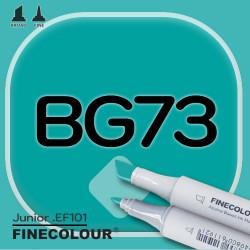 Маркер FINECOLOR Junior BG73 Морской зеленый двухсторонний