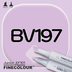 Маркер FINECOLOR Junior BV197 Розовато-лиловый двухсторонний
