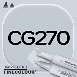Маркер FINECOLOR Junior CG270 Резкий серый №4 двухсторонний