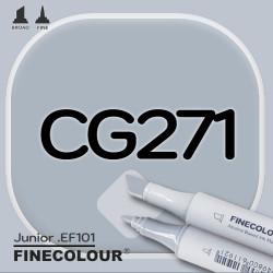 Маркер FINECOLOR Junior CG271 Резкий серый №5 двухсторонний