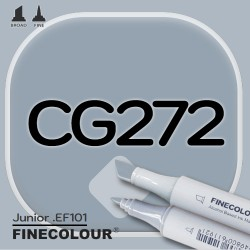 Маркер FINECOLOR Junior CG272 Резкий серый №7 двухсторонний