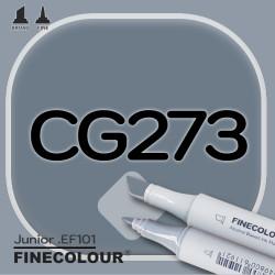 Маркер FINECOLOR Junior CG273 Резкий серый №9 двухсторонний
