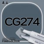 Маркер FINECOLOR Junior CG274 Резкий серый №1 двухсторонний