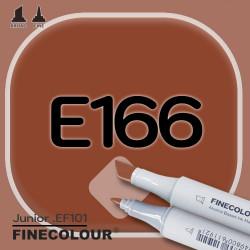 Маркер FINECOLOR Junior E166 Оранжево-коричневый двухсторонний