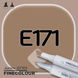 Маркер FINECOLOR Junior E171 Кофейный двухсторонний