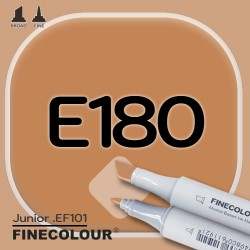 Маркер FINECOLOR Junior E180 Середина сиенны двухсторонний