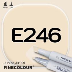 Маркер FINECOLOR Junior E246 Кирпичный бежевый двухсторонний