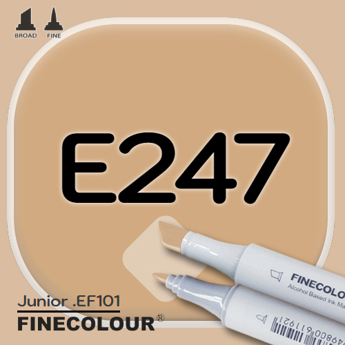 Маркер FINECOLOR Junior E247 Глубокий бежевый двухсторонний