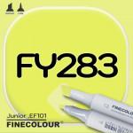 Маркер FINECOLOR Junior FY283 Флуоресцентный желтый двухсторонний