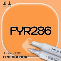 Маркер FINECOLOR Junior FYR286 Флуоресцентный оранжевый двухсторонний