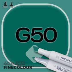 Маркер FINECOLOR Junior G50 Темный оттенок зеленого двухсторонний