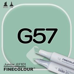 Маркер FINECOLOR Junior G57 Серебристый зеленый двухсторонний
