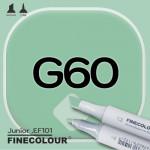 Маркер FINECOLOR Junior G60 Океан зеленый двухсторонний