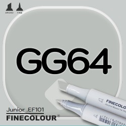 Маркер FINECOLOR Junior GG64 Серо-зеленый №5 двухсторонний