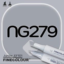 Маркер FINECOLOR Junior NG279 Нейтральный серый №5 двухсторонний