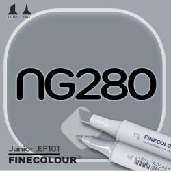 Маркер FINECOLOR Junior NG280 Нейтральный серый №7 двухсторонний