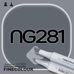 Маркер FINECOLOR Junior NG281 Нейтральный серый №8 двухсторонний