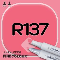 Маркер FINECOLOR Junior R137 Насыщенный красный двухсторонний