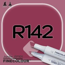 Маркер FINECOLOR Junior R142 Темно-бордовый двухсторонний